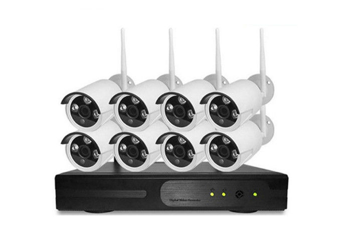 H.264 Outdoor CCTV System 8CH, 8CH Full HD Wifi NVR Kit Night Vision 3.6mm Lens